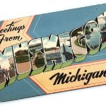 An old postcard from Muskegon, MI. on November 10, 2020